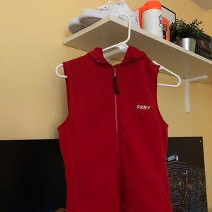 Cute retro DKNY zip up vest